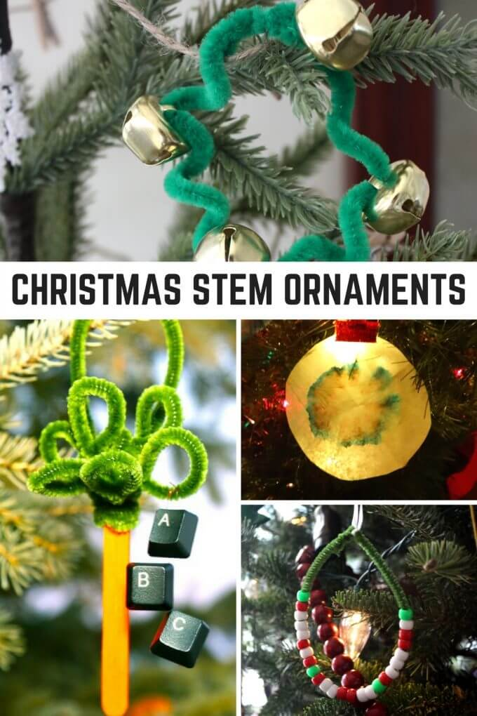 Homemade Science and STEM Christmas Ornaments Craft