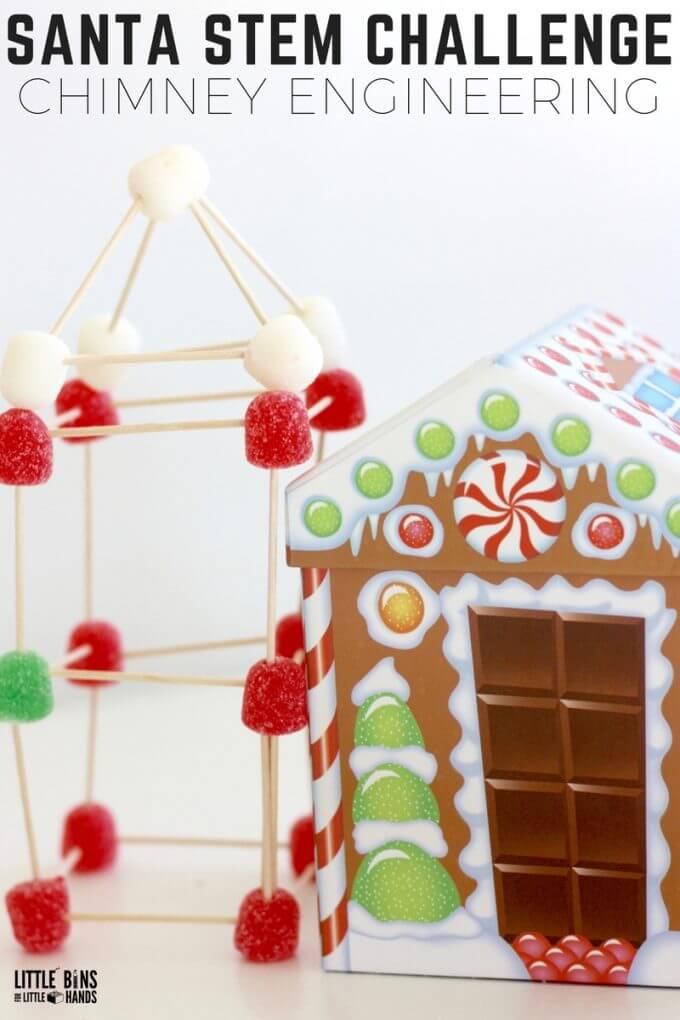 Christmas Candy STEM Challenge Gumdrop Structures for Santa