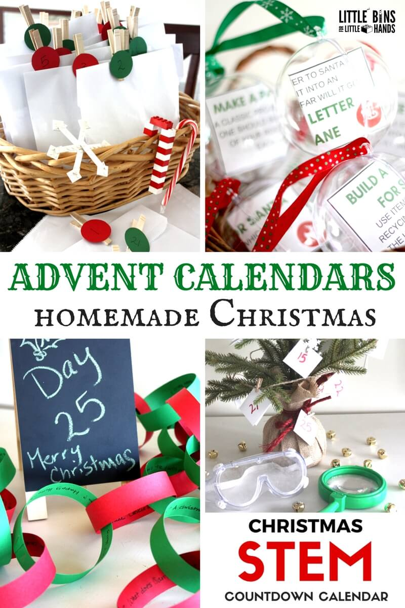 Homemade advent calendar christmas ideas for busy families for Diy christmas advent calendar ideas