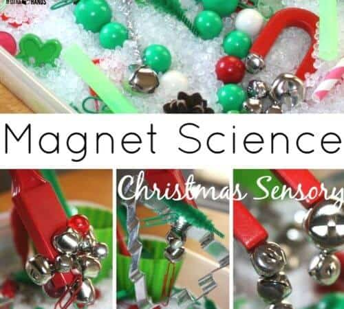 Christmas Magnet Science Sensory Play Activity