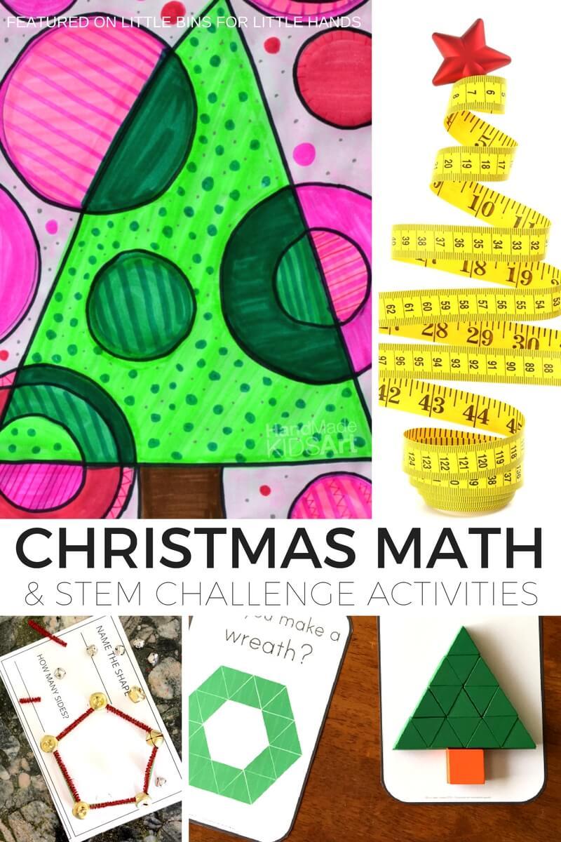 Christmas Math.Christmas Math Activities And Math Stem Challenges For Kids