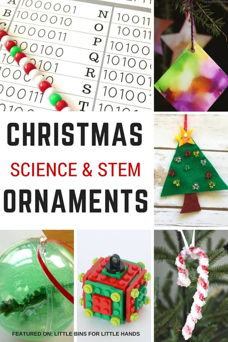 Christmas name ornaments - Christmas Science Ornaments For Kids To Make For Christmas Stem