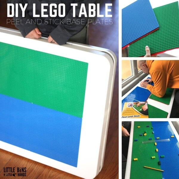 DIY Folding LEGO Table! Easy and Homemade LEGO hack!