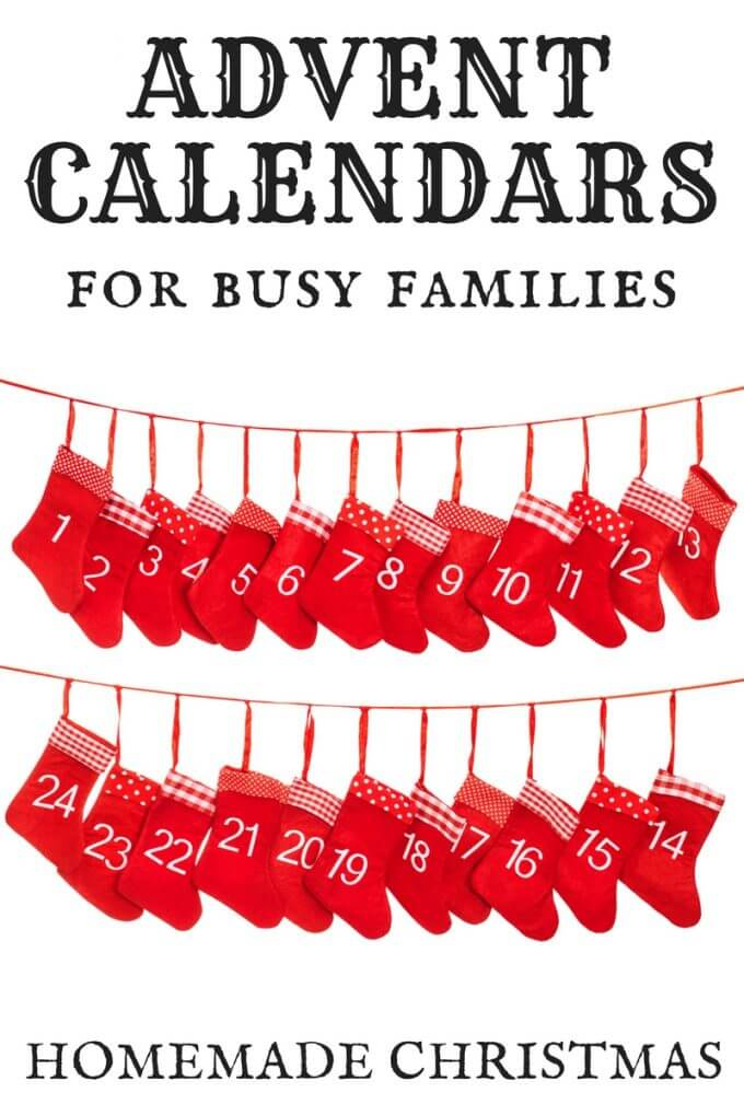 Homemade Advent Calendar and 25 Days of Christmas Countdown Ideas