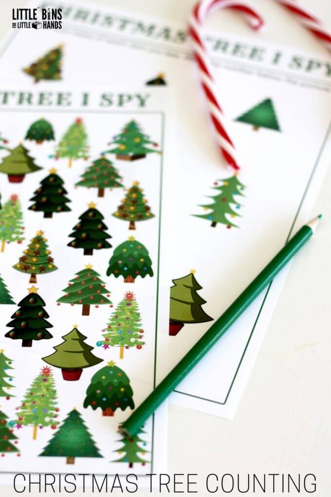 I spy christmas tree search and find