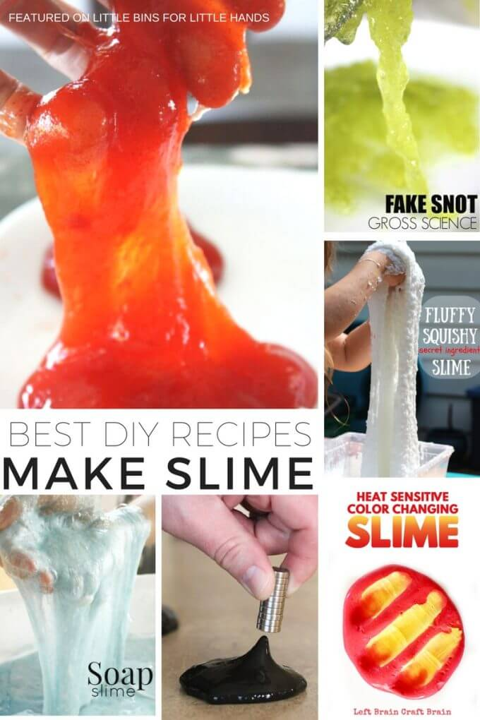 Making slime with kids is awesome chemistry and hands on play all in one activity. Kids can make slime at home or in the classroom with many simple ingredients. Try our liquid starch slime recipe, fake snot slime recipe, metamucil fiber slime, frozen slime , magnetic slime and so many more awesome ways to make slime that you really can do with kids! You can also find borax free slime options or no liquid starch slime options.