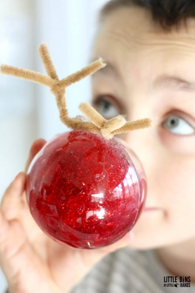 Rudolph Themed Christmas Slime for Kids