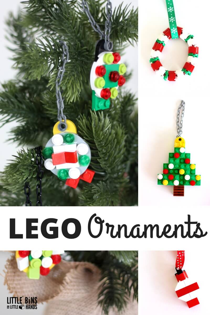 simple to make lego christmas ornaments for kids