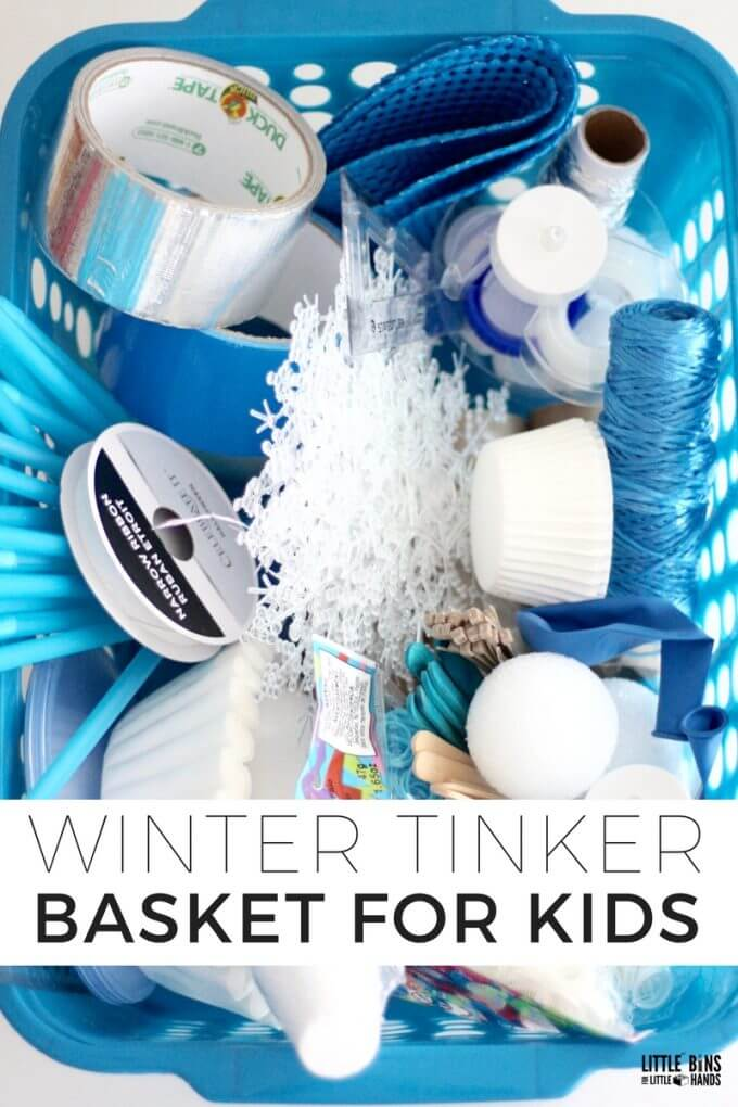 Winter tinkering kit for kid's winter STEAM activities