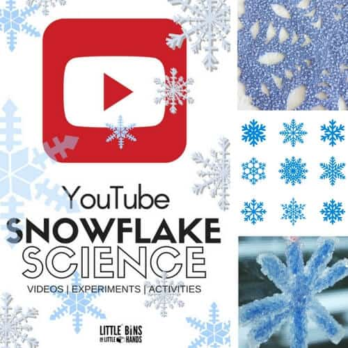 Snowflake science YouTube videos of kids to explore ice crystals