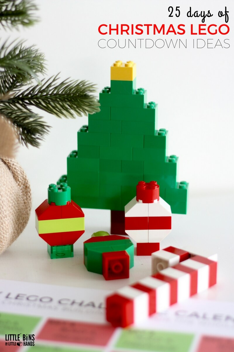 Lego Christmas.Lego Christmas Building Ideas Calendar Countdown For Kids