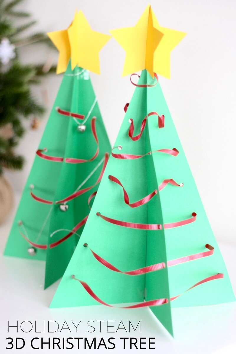 i love the way our 3d christmas tree decorations look its wonderful to add homemade decoration making to your holiday season take a few minutes to throw - Paper Christmas Tree Decorations