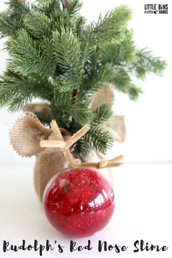 Make Christmas Slime For Ornament Gifts Kids Can Make and Give