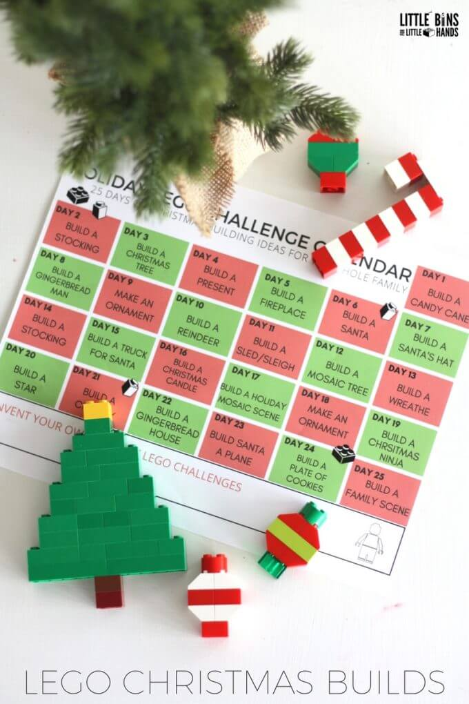 LEGO Christmas Challenge Calendar Printable