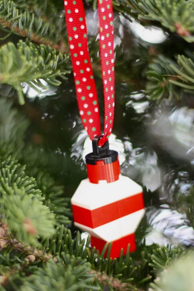 Make LEGO Christmas Ornaments With Kids For Homemade Christmas