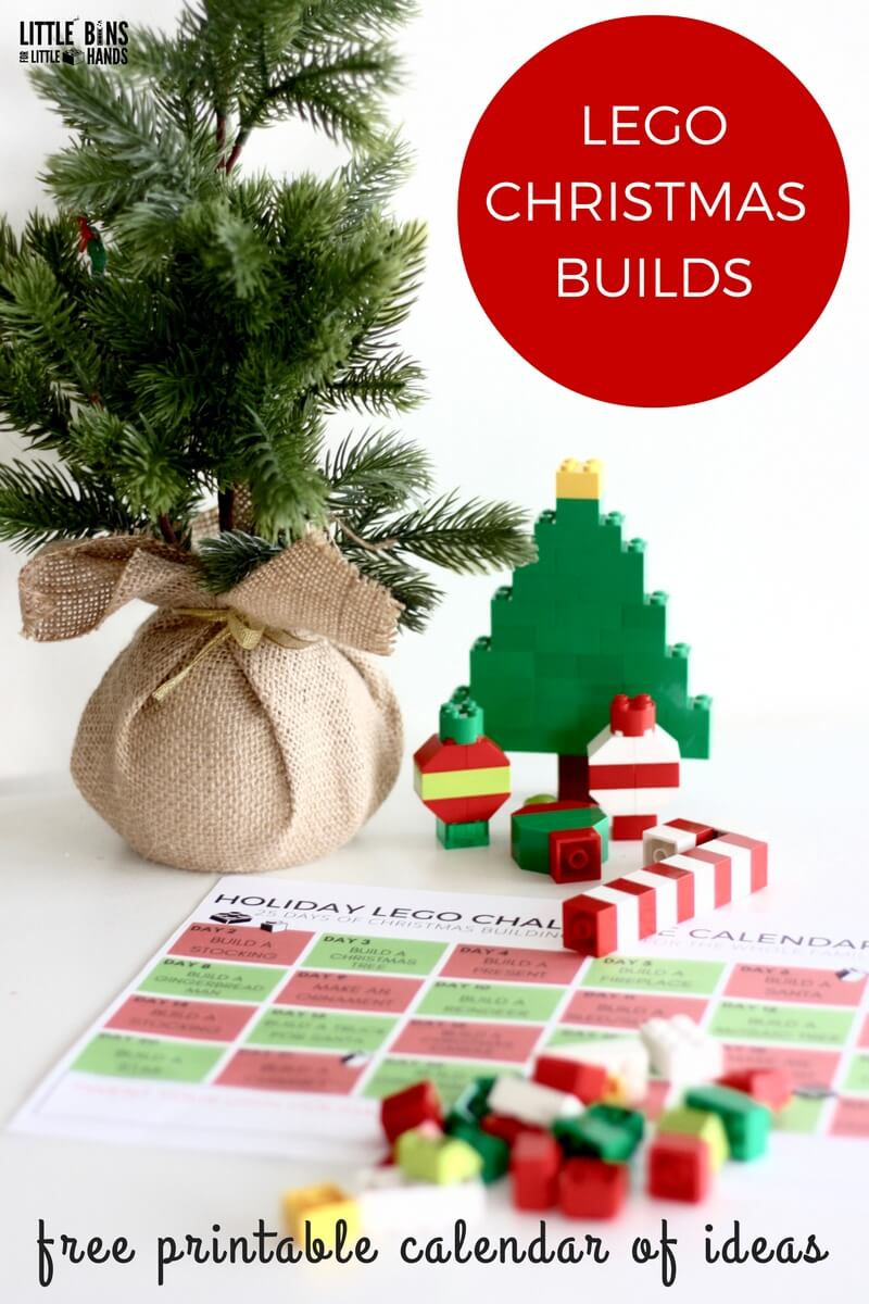 photo relating to Christmas Countdown Printable titled LEGO Xmas Coming up with Suggestions Calendar Countdown for Little ones