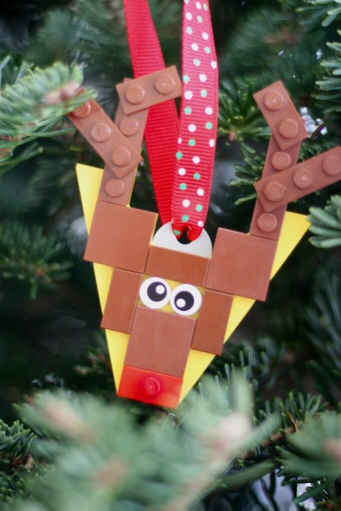 Make LEGO Rudolph Reindeer Ornament