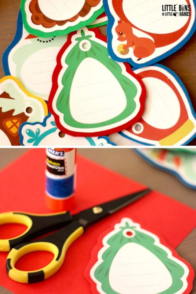 Making gratitude ornaments with kids this holiday