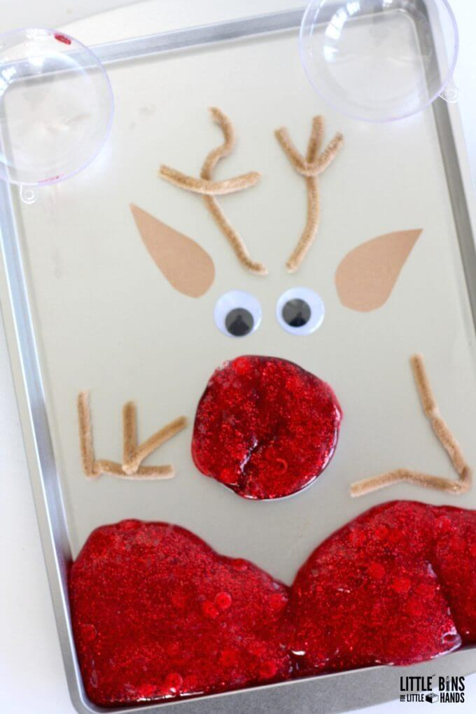 Reindeer Slime Christmas Activity Tray