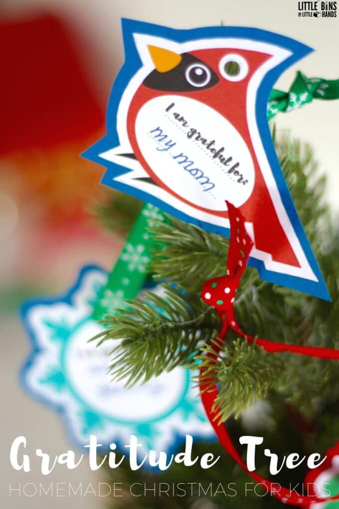 Christmas gratitude ornaments