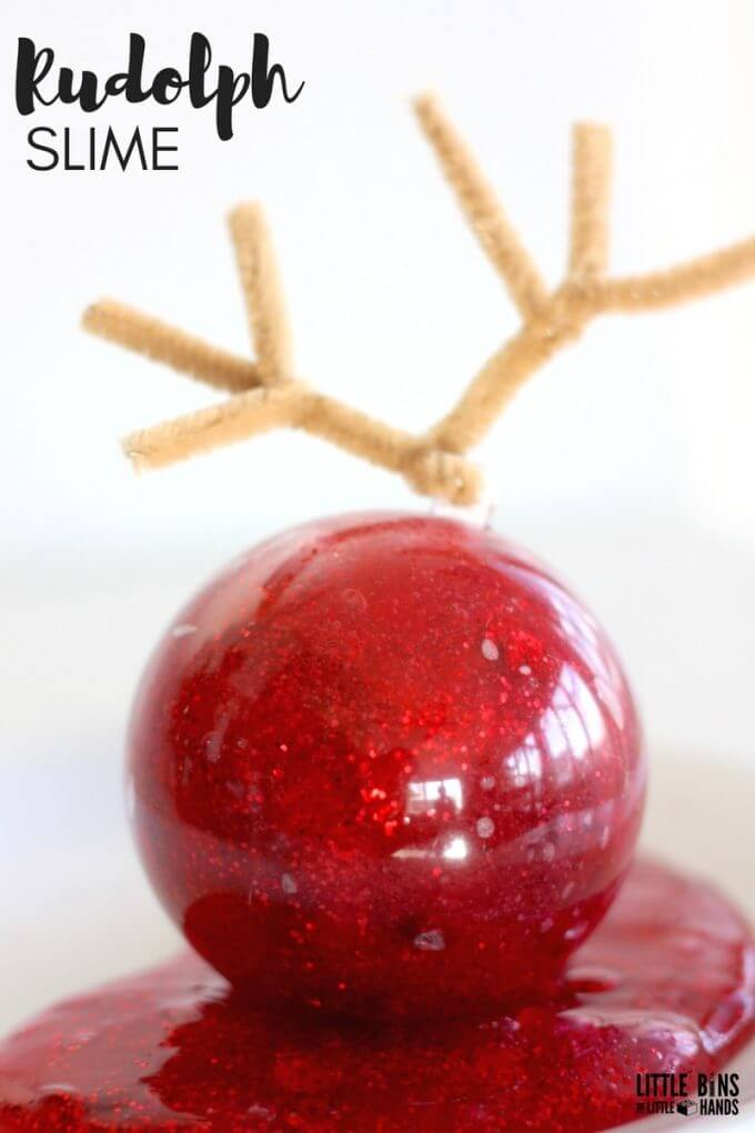 Easy to Make Christmas Slime for Rudolph the Reindeer Activity