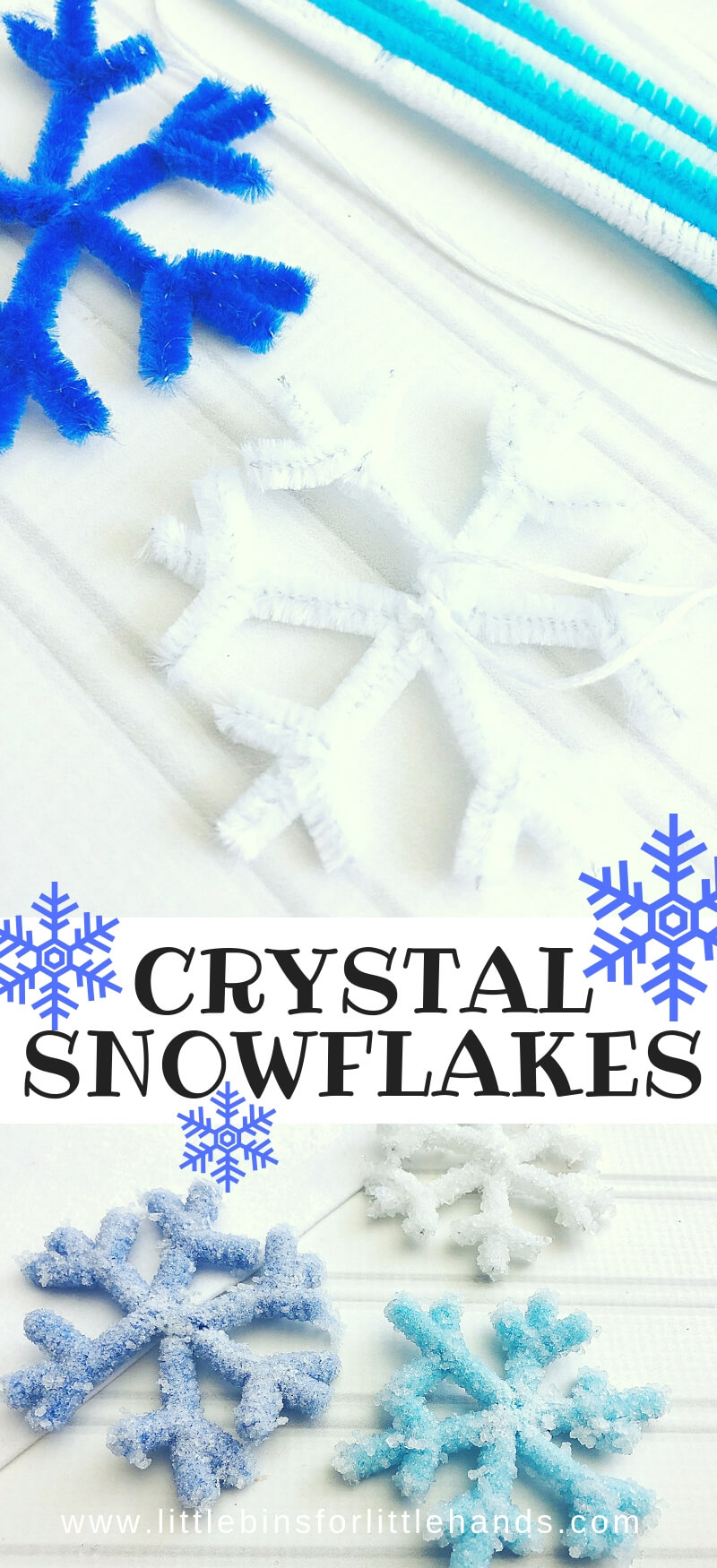 Crystal Snowflake Ornaments for Winter Science