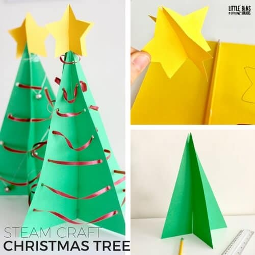 Christmas Tree Craft.3d Christmas Tree Steam Craft Little Bins For Little Hands