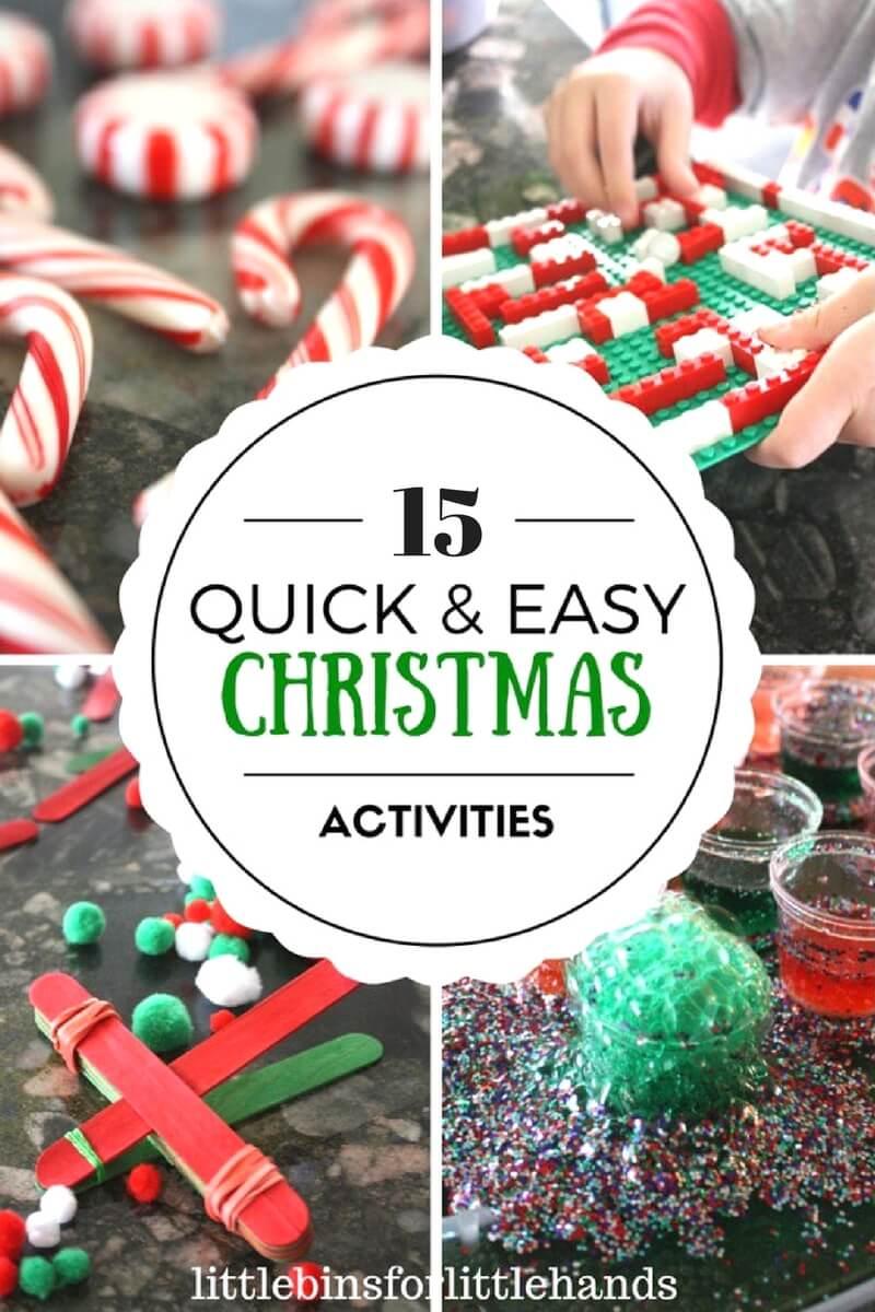 Easy Christmas Activities for Kid\'s Christmas STEM
