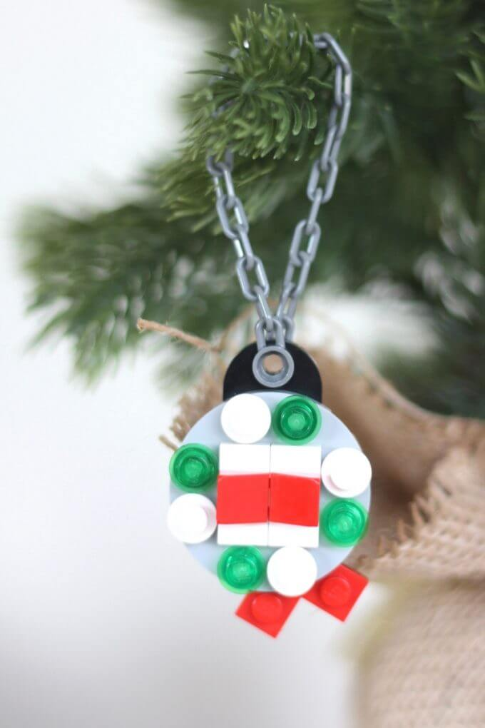 LEGO Christmas Ornament Ball Decorating Ornament