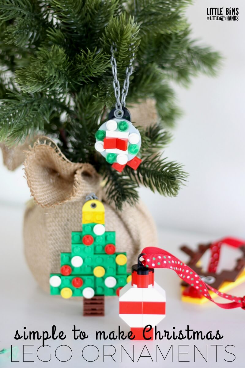 Lego Christmas Ornaments.Lego Christmas Ornaments For Kids To Make Little Bins For