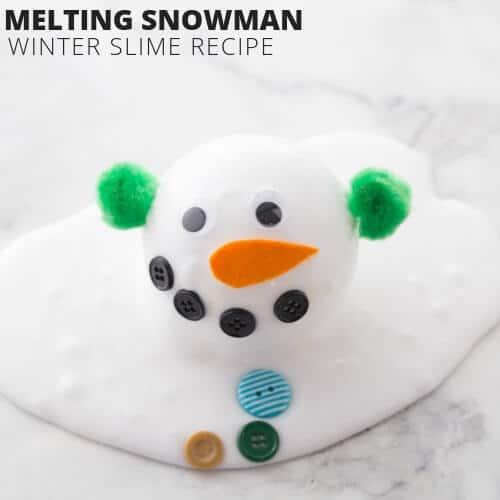 Melting Snowman Slime Recipe for Winter Science