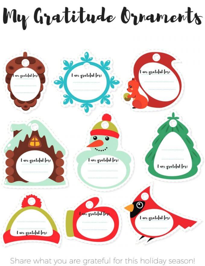 My gratitude ornaments for Christmas