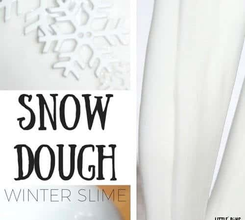 Snow Dough Slime for Winter Science and Sensory Play
