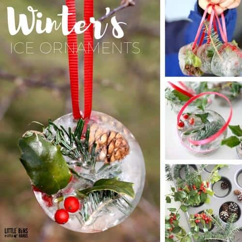 Ice Ornaments for Celebrating Winter Solstice