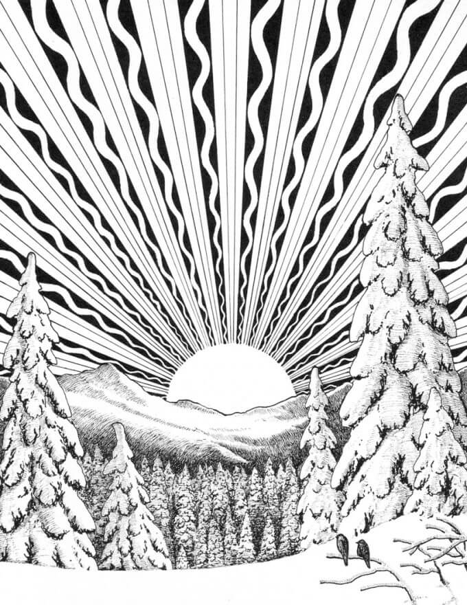 Solstice Coloring Page
