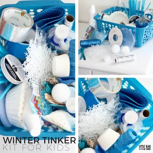 DIY winter tinker kit perfect for little inventors