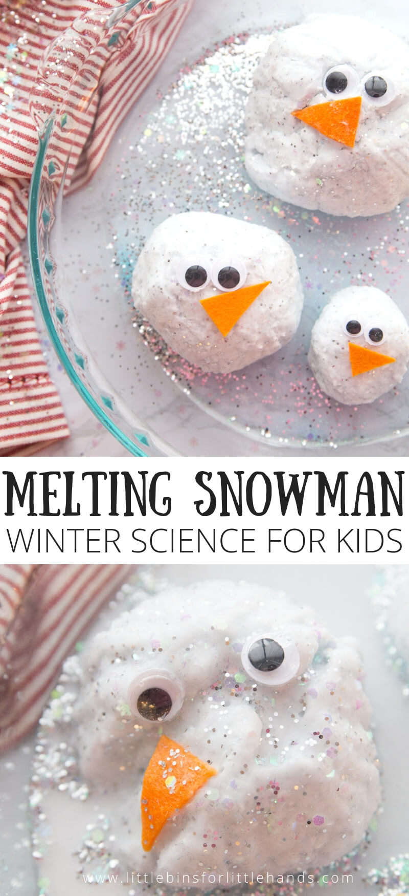 FUN MELTING SNOWMAN BAKING SODA SCIENCE WINTER ACTIVITY