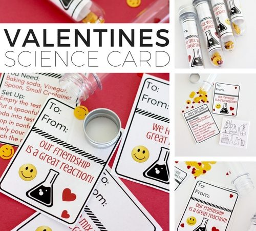 Science Valentine Card In A Test Tube {Free Printable}