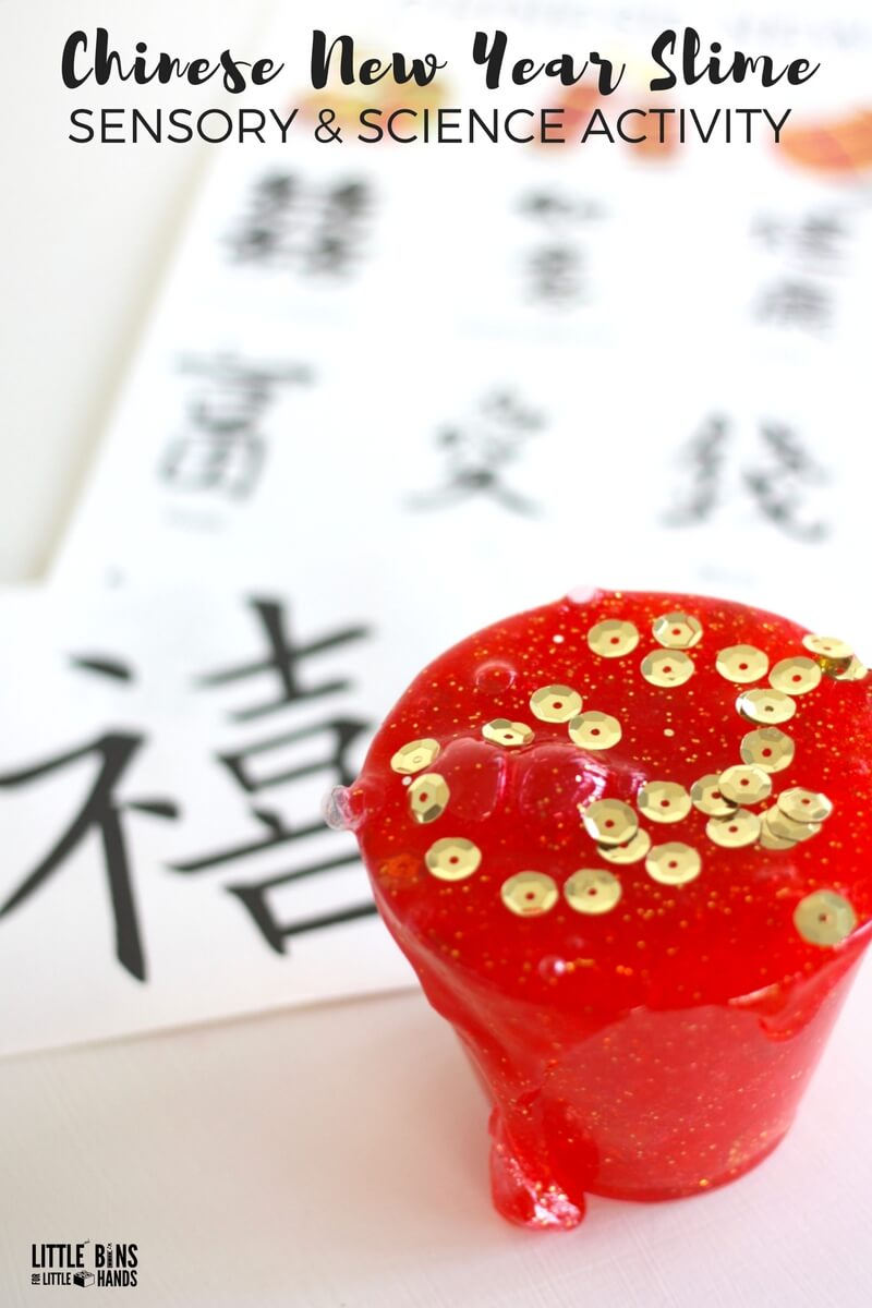 make chinese new year slime with kids
