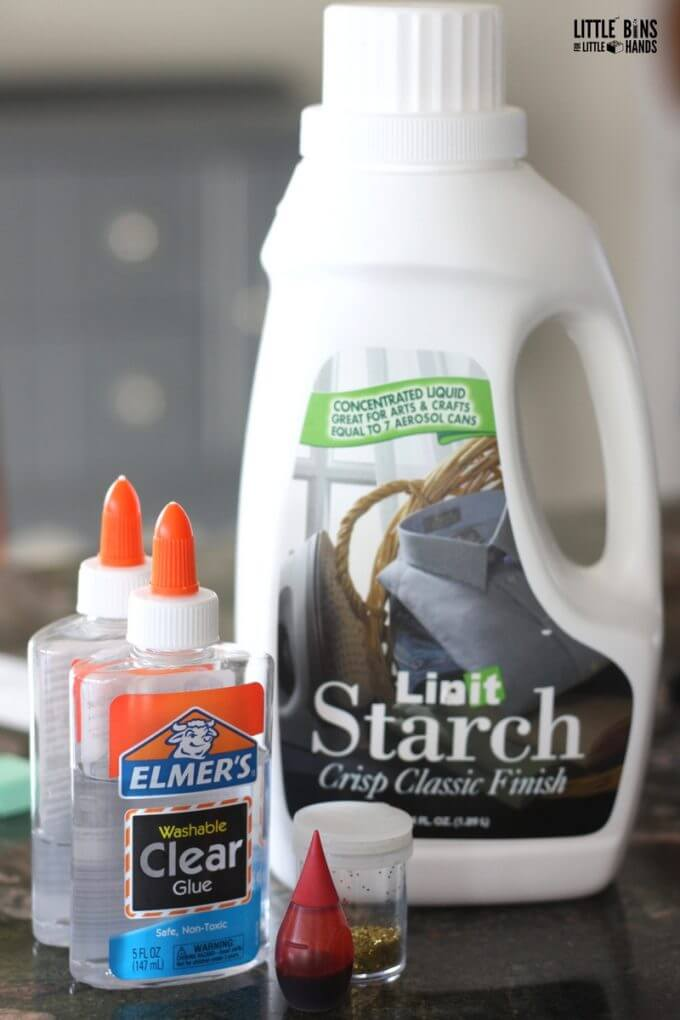 Make Liquid Starch Slime Supplies