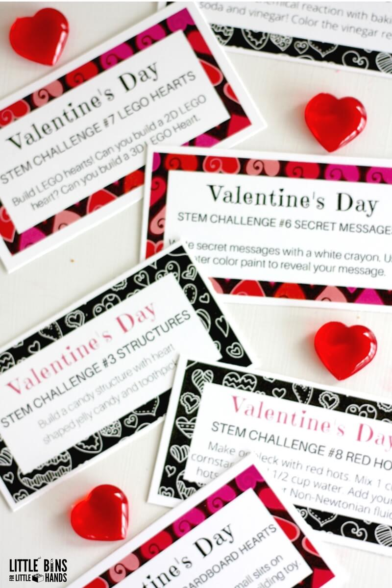 Valentines Day Challenge Cards For Science And STEM