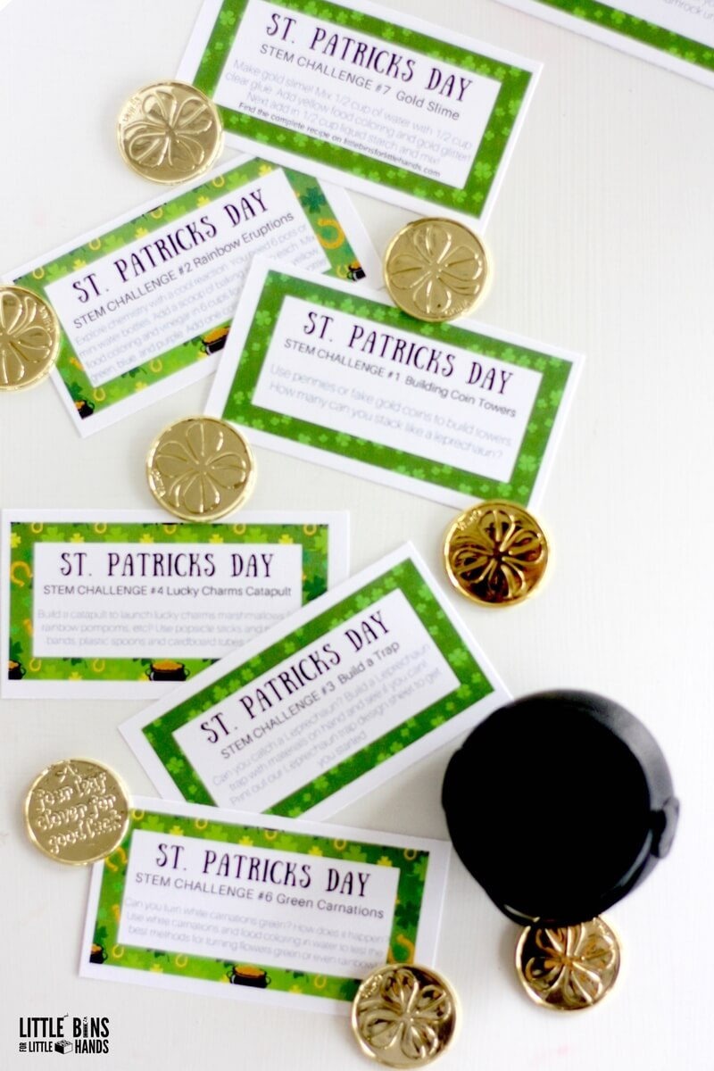 St Patricks Day Challenge Cards For Science And Stem