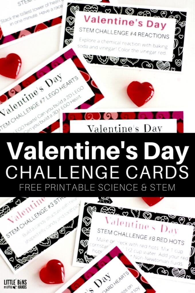 Valentines Day STEM Activities Free printable challenges for kids