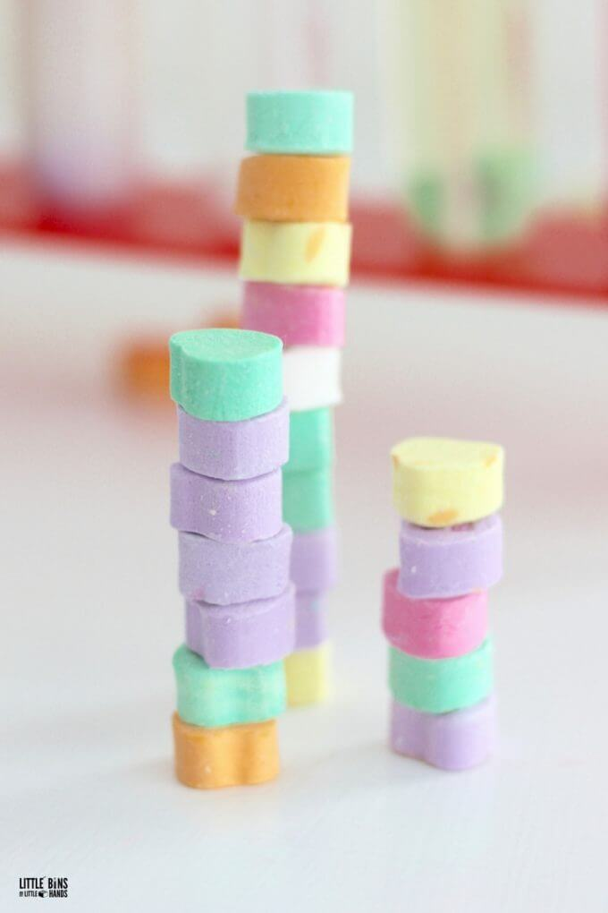 Stacking candy hearts