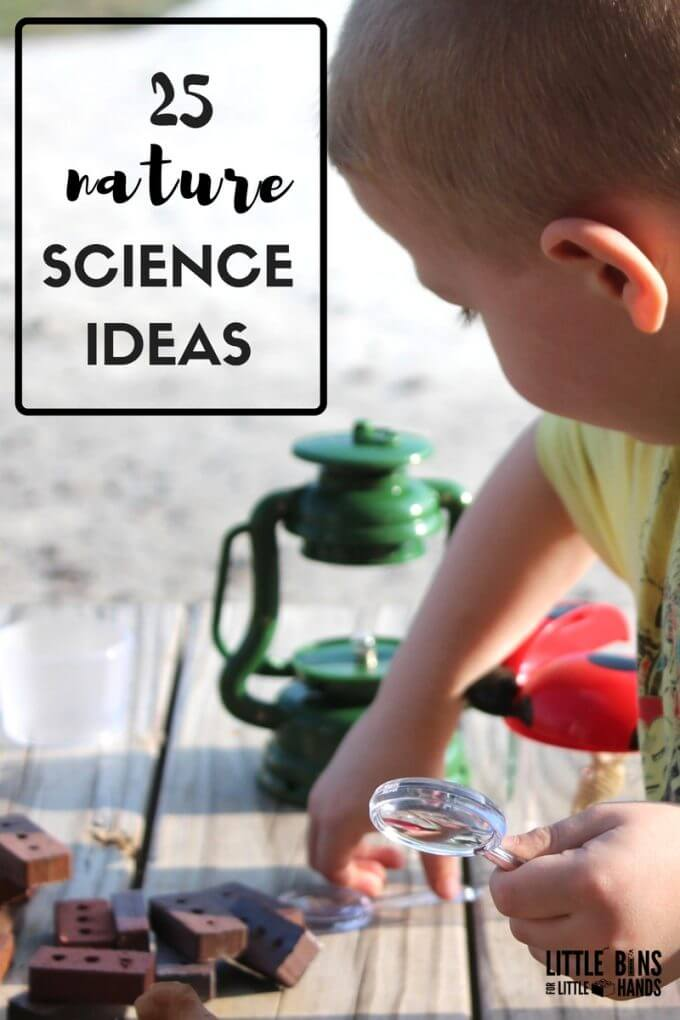 Outdoor Nature Science Activities for Kids. Practical outdoor science ideas for kids.