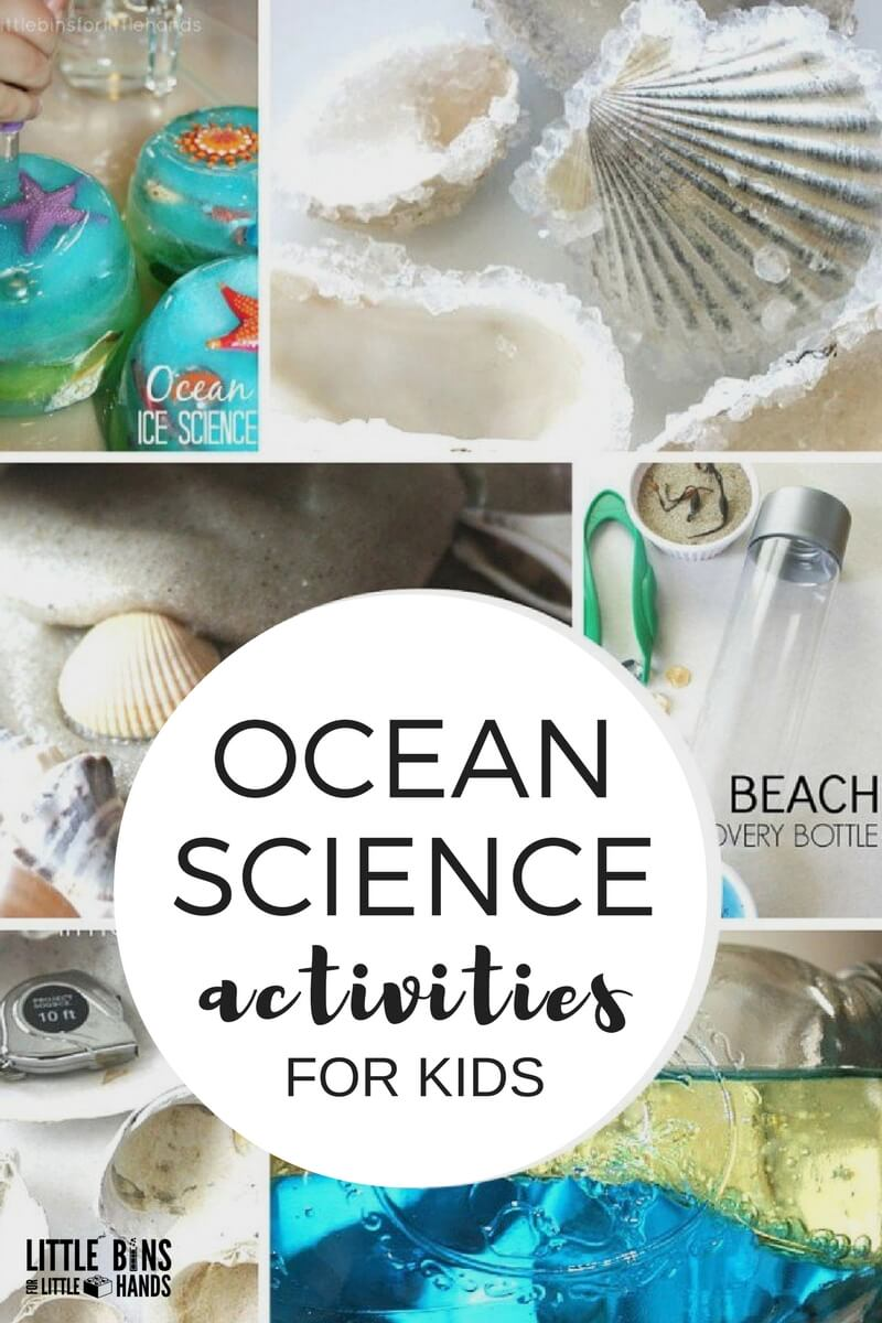 science ocean activities preschool experiment summer sand preschoolers theme experiments beach themes kindergarten activity fun slime shells crystal themed projects