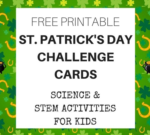 St Patricks Day Challenge Cards for STEM and Science