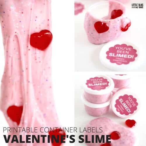 liquid starch valentines day slime recipe with labels