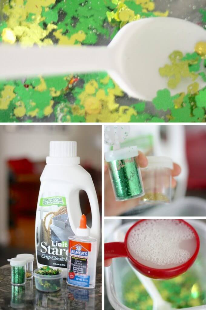Slime science and supplies for making slime with glue and starch