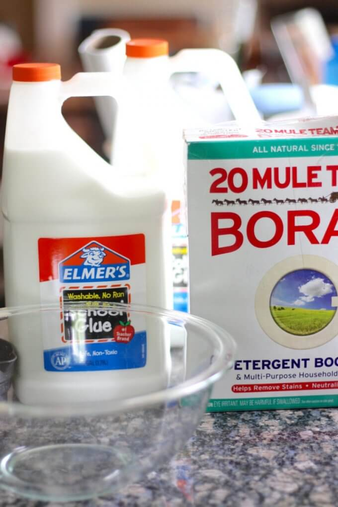 Borax slime recipe ingredient for how to make slime with borax